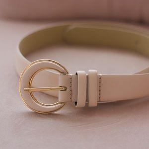 Blush Cream Belt Small
